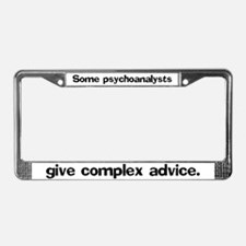 Some psychoanalysts give comp License Plate Frame