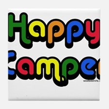 Cute Happy campers Tile Coaster