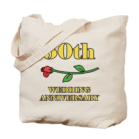 50th Rose Tote Bag