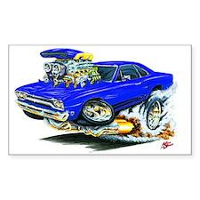Plymouth GTX Blue Car Rectangle Decal
