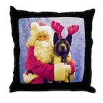 Maggie and Santa Throw Pillow