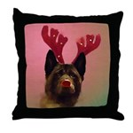 Magge The Red-Nosed Doggie Throw Pillow
