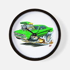 Plymouth GTX Green Car Wall Clock