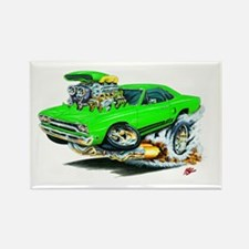 Plymouth GTX Green Car Rectangle Magnet