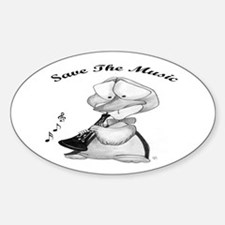 Save the Music Oval Bumper Stickers