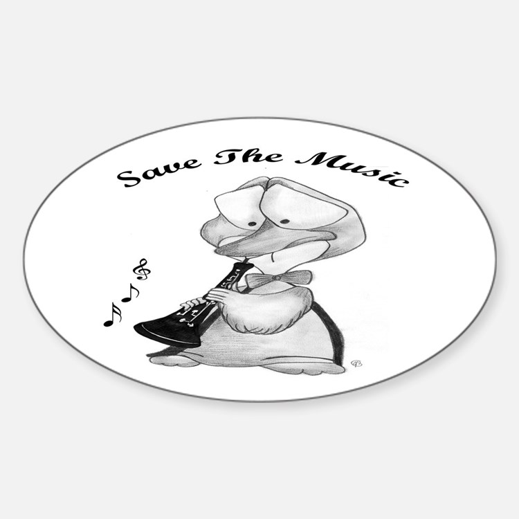 Save the Music Oval Decal