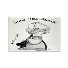 Save the Music Rectangle Magnet