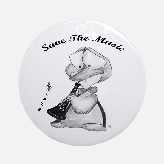 Save the Music Ornament (Round)