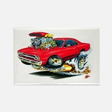 Plymouth GTX Red Car Rectangle Magnet