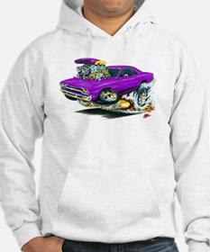 Plymouth GTX Purple Car Hoodie