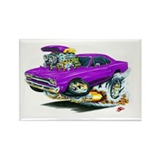 Plymouth GTX Purple Car Rectangle Magnet