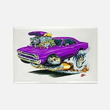 Plymouth GTX Purple Car Rectangle Magnet