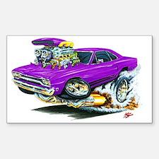 Plymouth GTX Purple Car Rectangle Decal