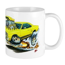 Plymouth GTX Yellow Car Mug