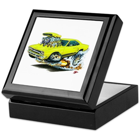 Plymouth GTX Yellow Car Keepsake Box