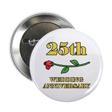 "25th Rose 2.25"" Button"