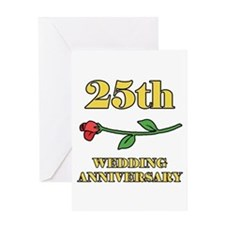25th Rose Greeting Card