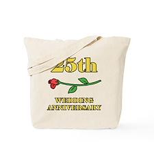 25th Rose Tote Bag