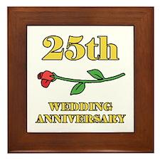 25th Rose Framed Tile