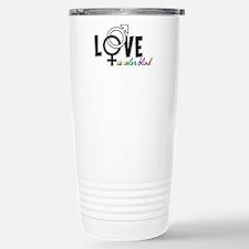Love is Colorblind Stainless Steel Travel Mug