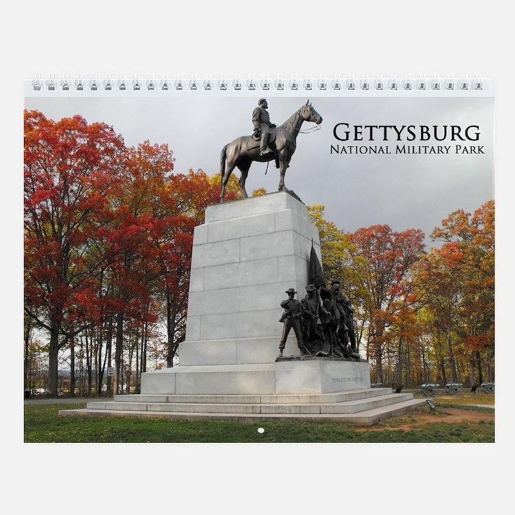Gettysburg Battlefield Wall Calendar