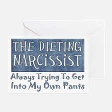 Dieting Narcissist Greeting Card