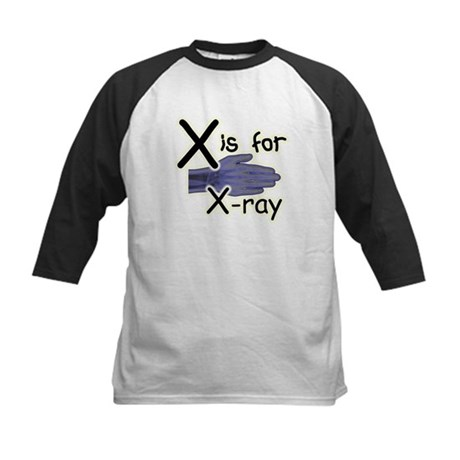 X is for X-ray Kids Baseball Jersey