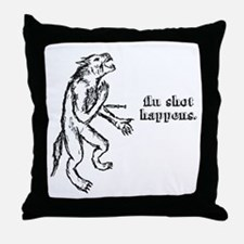 Flu Shot Throw Pillow