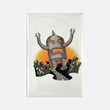 Robot Attack Rectangle Magnet