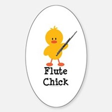 Flute Chick Oval Decal