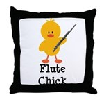 Flute Chick Throw Pillow