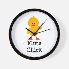 Flute Chick Wall Clock