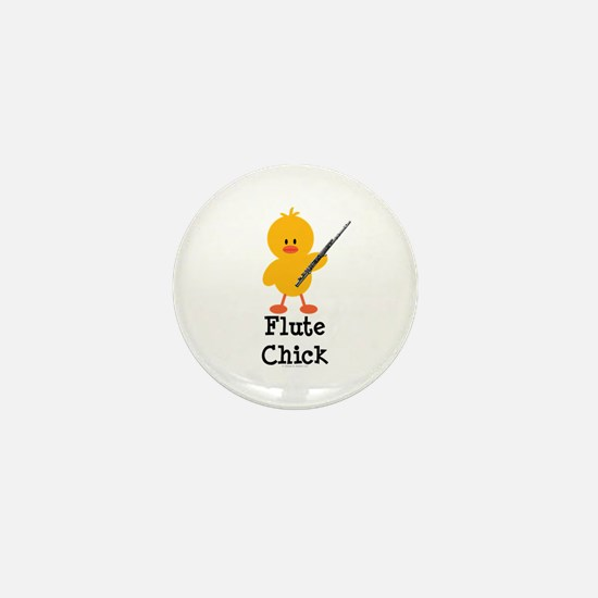 Flute Chick Mini Button