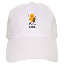 Violin Chick Baseball Cap
