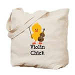 Violin Chick Tote Bag