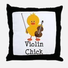 Violin Chick Throw Pillow