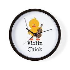 Violin Chick Wall Clock