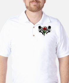 Rose tattoo Golf Shirt