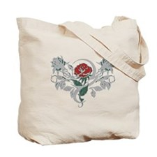Rose tattoo Tote Bag
