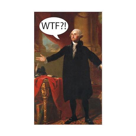 George Washington WTF? Rectangle Sticker