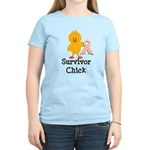 Pink Ribbon Survivor Chick Women's Light T-Shirt