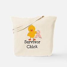Pink Ribbon Survivor Chick Tote Bag