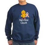 Pink Ribbon Survivor Chick Sweatshirt (dark)