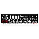 45,000 Dead Americans bumper sticker