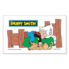 Snuffy Sleeping Rectangle Sticker