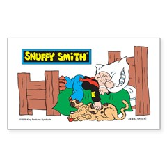 Snuffy Sleeping Rectangle Decal
