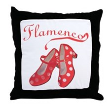 Red Flamenco Shoes Throw Pillow