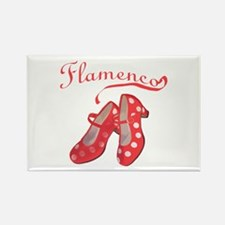 Red Flamenco Shoes Rectangle Magnet