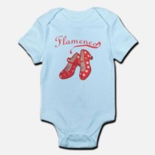 Red Flamenco Shoes Infant Bodysuit