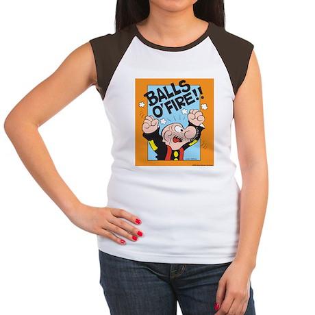Balls O'Fire! Women's Cap Sleeve T-Shirt